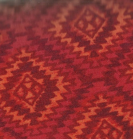 Oasis ikat geo fire orange Timeless Treasures fabric