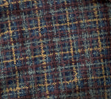 Brushstroke blue plaid flannel fabric Timeless treasures