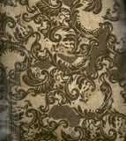 Camel lace look brown flannel Timeless Treasures fabric