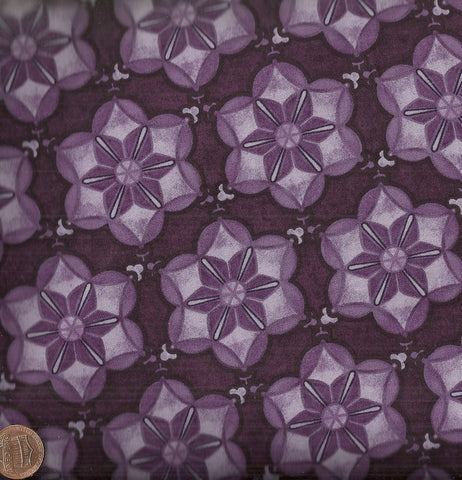 Abundance Star Flower 4ABU2  Jason Yenter ITB purple fabric