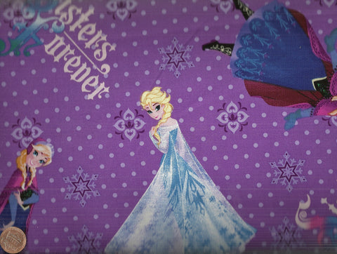 Frozen 49459 purple Sisters Forever fabric