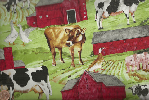 Down on the Farm 60752 animals horses cows pigs Exclusively Quilters
