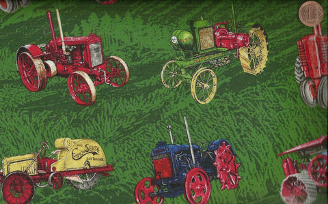 Vintage Tractors allover farm Exclusively Quilters fabric