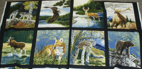 Bringing Nature Home wildlife panel Kaufman fabric