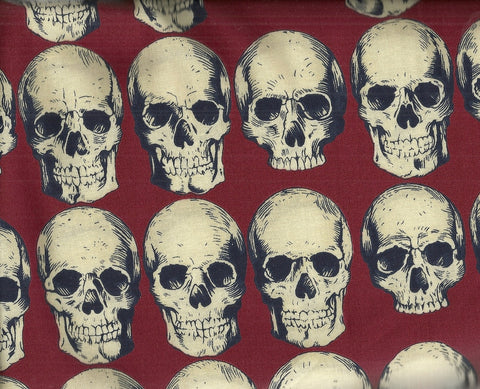 Rad Skulls red Alexander Henry fabric