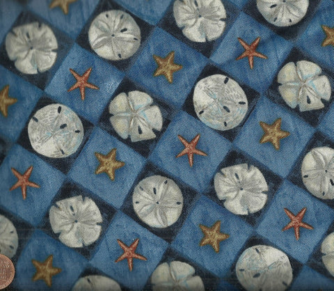 Sand Dollar Diamonds Robert Kaufman fabric