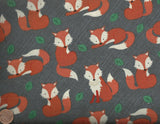 Foxes woodland charcoal wildlife animals Timeless Treasures fabric