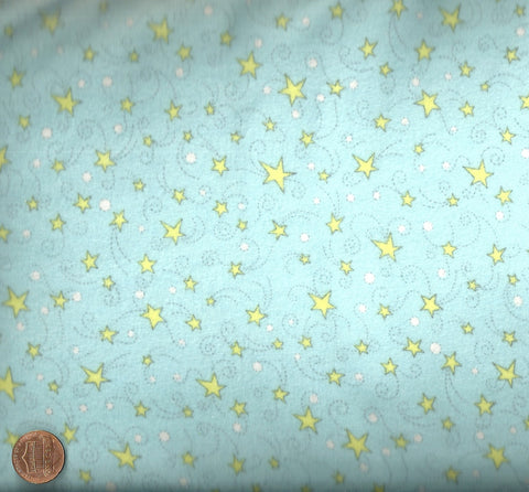 Finch and Friends blue yellow stars flannel Red Rooster fabric