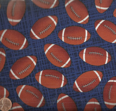 Footballs C4138 navy Timeless Treasures fabric