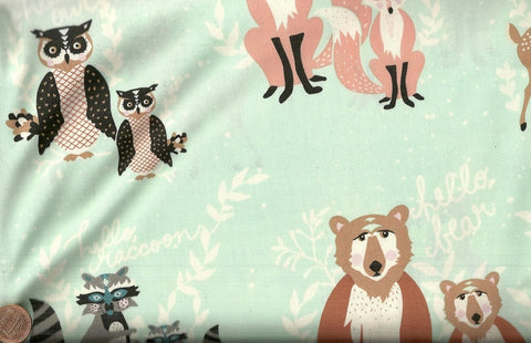 Oh Hello Meadow woodland animals childrens Art Gallery fabrics