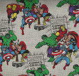 Marvel comics retro super heroes Hulk Springs fabric