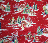 Western Winter cowboys red Alexander Henry fabric
