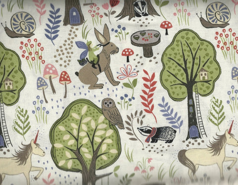 Enchanted Forest childrens fabric woodland creatures