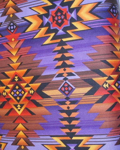 Southwestern Blanket orange purple Timeless Treasures fabric