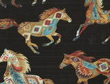 Timeless Treasures southwestern running horses fabric