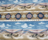 Southwestern Horse stripe Timeless Treasures fabric