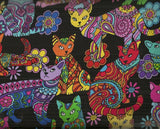 Coloring Cats brite Timeless Treasures fabric