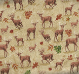 Forest deer tan Windham fabric