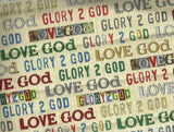 Glory words religious fabric Quilting Treasures