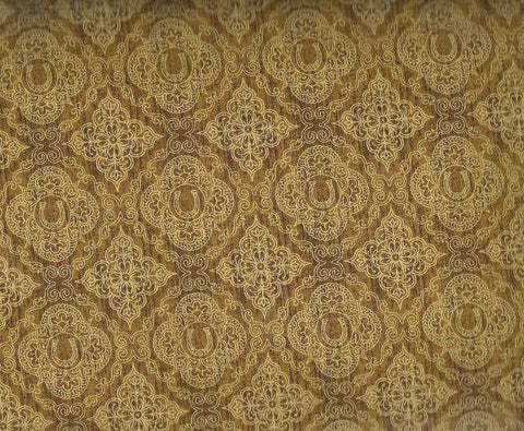 Unbridled brown horseshoe western fabric Quilting Treasures