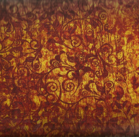 Scrollscapes orange Quilting Treasures fabric