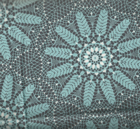 Meadow Dance gray blue floral Benartex fabric