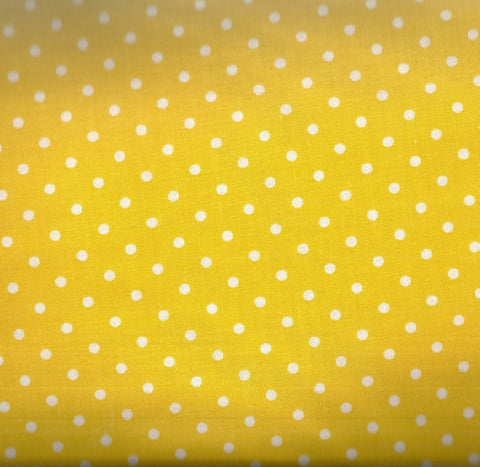 Yellow dots Timeless Treasures fabric