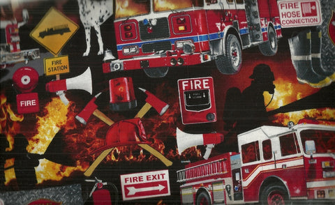 Firefighter Collage Timeless Treasures fabric
