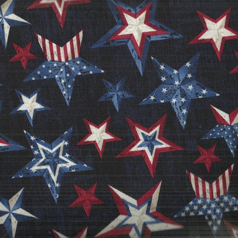Patriotic stars ink americana Timeless Treasures fabric