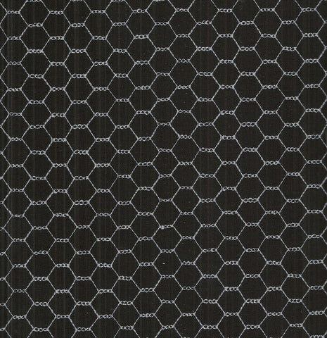 Farm chicken wire black Timeless Treasures fabric