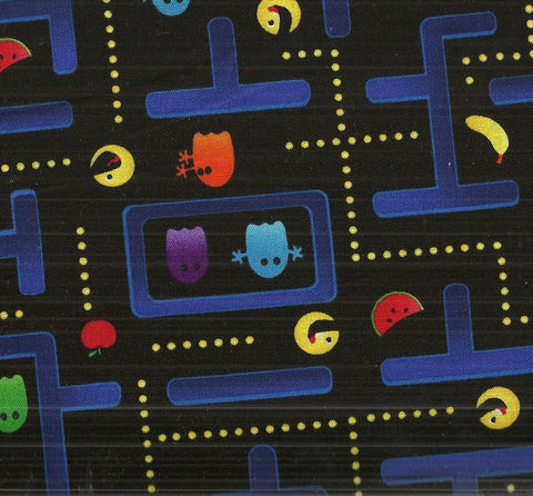 Pac Man arcade game maze Timeless Treasures fabric