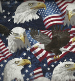 American eagles patriotic flag Timeless Treasures fabric