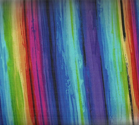Painterly Stripe fantasy multi Timeless Treasures fabric