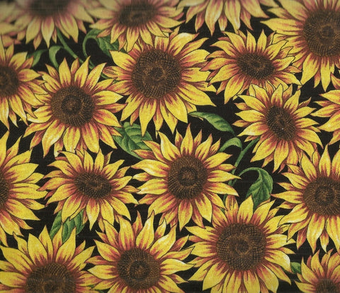 Packed Sunflowers floral Timeless Treasures fabric