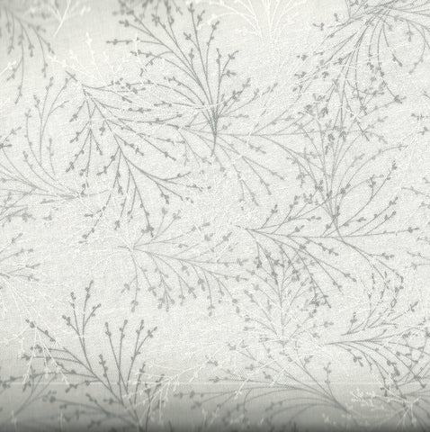 Essence of Pearl metallic winter branches Benartex fabric