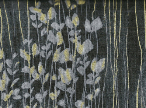 Zephyr metallic stripe leaves Timeless Treasures fabric