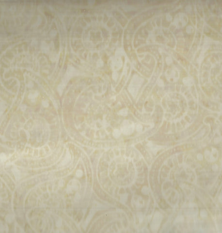 Tonga batik ivory jasmine bunches Timeless Treasures fabric