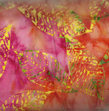 Tonga batik sunset fossil leaf Timeless Treasures fabric