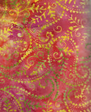 Tonga batik sunset paisley Timeless Treasures fabric