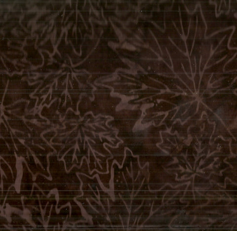 Tonga batik chocolate fallen leaves Timeless Treasures fabric