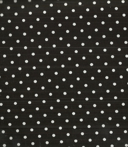 Black and white polka dots fabric