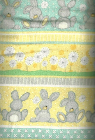 Fluffy Bunnies flannel stripe Henry Glass fabric