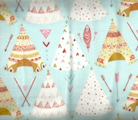 Dream Catchers blue tepee childrens StudioE flannel fabric