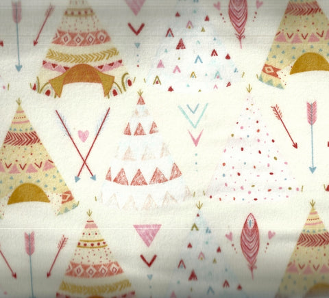 Dream Catchers white tepees flannel childrens Studio E fabric