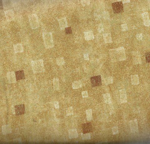 Gustav Klimt metallic tan Kaufman fabric