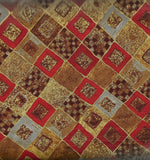 Gustav Klimt metallic red diagonal Kaufman fabric