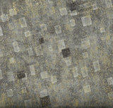 Gustav Klimt metallic charcoal gray Kaufman fabric