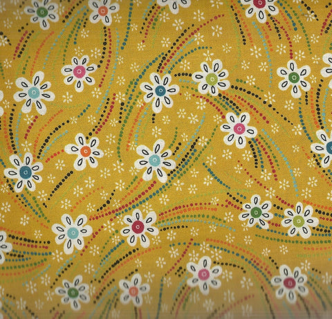 Flower Daze yellow flowers floral River Bend fabric