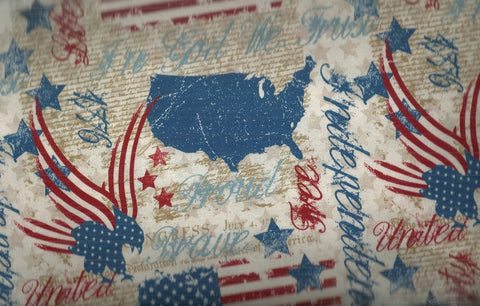 Quilts of Valor patriotic eagles stars stripes River Bend fabric