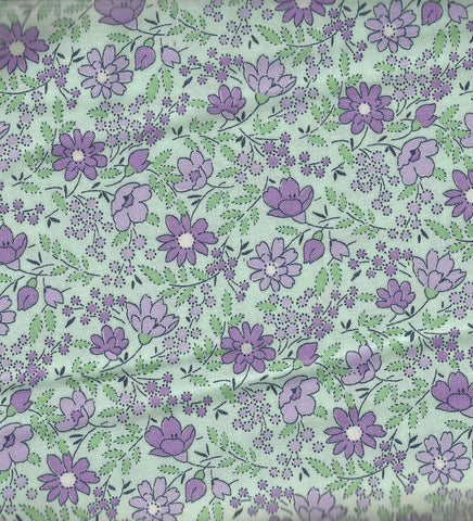 Everything but the Kitchen Sink XIII green purple floral RJR fabric